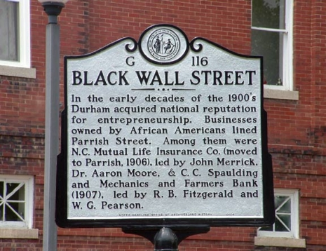 Image result for black wall street durham